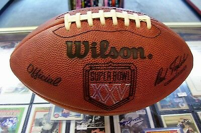 Official Super Bowl Xxv Wilson Leather Football Ny Giants Vs Buffalo Bills