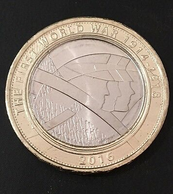 £2 Coin 2016 The First World War Army Shoulder To Shoulder PALS FREEPOST