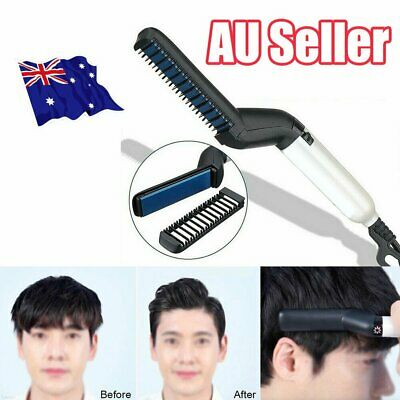 Quick Beard Straightener Multifunctional Hair Comb Curling Curler Show Cap Men Z