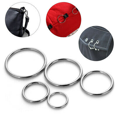 10Pcs O Ring Connection Alloy Metal Shoes Bags Belt Buckles DIY Craft Webbing