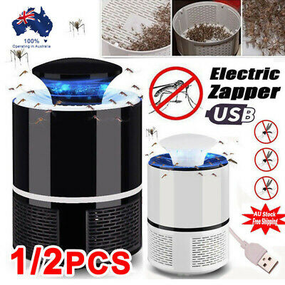 1/2Pcs USB Mosquito Insect Killer Electric LED Fly Zapper Trap Catcher Lamp