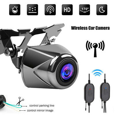 170° Wireless HD Car Auto Parking Reverse Rear View Backup Camera Night Vision