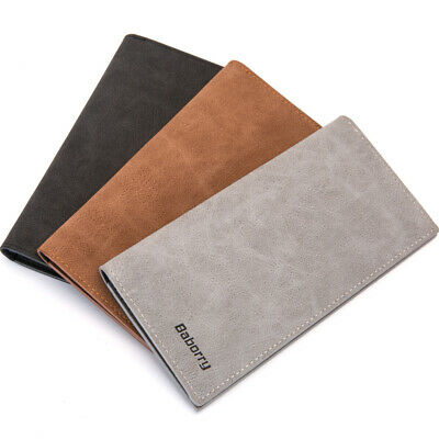 Fashion Business Mens' Gift Leather Long Wallet Card ID Card Protection Holders