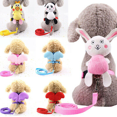 Lovely Dog Rope Leash Animal Angel Wing Pet Harness Puppy Cat Walking Training