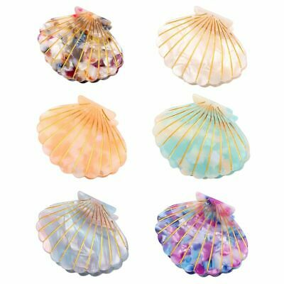 Fashion Shell Hair Clip Acetate Resin Clips Grips Ponytail Hairpins Floral Print