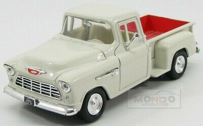 Chevrolet Chevy 5100 Stepside Pick-Up Weiss 1955 1//24 Motormax Modell Auto mit..