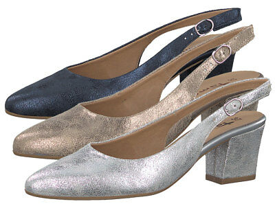 TAMARIS PUMPS SILBER Gold Metallic Touch it Fußbett Gr. 42