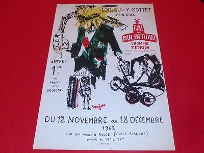 [ Coll. R Jean Mill Art 20th] Lorjou/Poster Moulin Rouge Eo 1962 Litho Mourlot