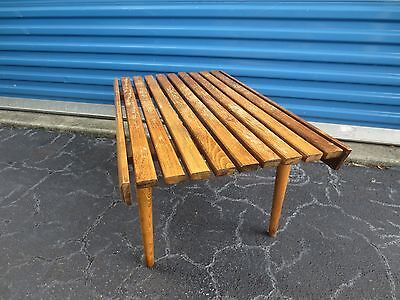 Pleasant Hardwood Bench Slat Bench Mid Century Modern Bench 4Ft 5Ft Pabps2019 Chair Design Images Pabps2019Com