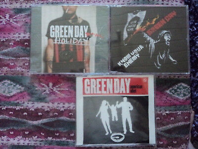 Green Day 3 x Single CD Bundle Collection Promo Punk Rock Billie Joe Armstrong