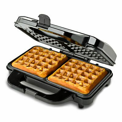 GLOBAL GOURMET Square Waffle Maker 1000W I Non-Stick Coating