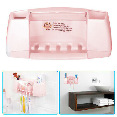 Toothpaste Toothbrush Holder Home Bathroom Stand Wall Mount Stand Storage Rack