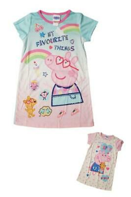 Girls Childrens Character Peppa Pig Nightie Sleepwear Night Dress