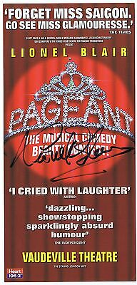 Lionel Blair   Pageant Musical Comedy  Signed  Playbill  Theatre  Flyer
