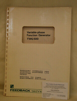 Feedback Instruments TWG500 Variable-phase Function Generator Technical Info