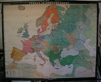 Schulwandkarte Beautiful Old Wall Map Polen-Litauen Europa 17.jh 78x63 3/8in