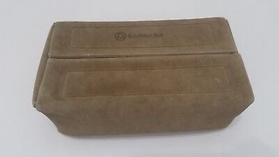 Southern Bell Telephone Vintage Mens Shower Bag Pouch - Folding Top Suede