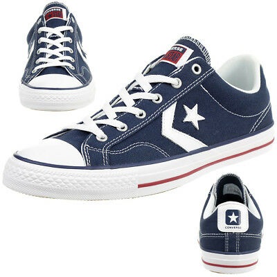 CONVERSE STAR PLAYER Ox Chaussures Baskets en Toile Bleu 144150c