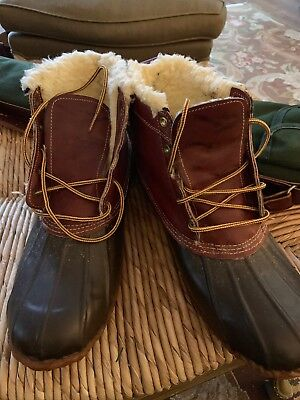 2ce824b0c90 VTG Rare BROOKS BROTHERS Gum Shoes Duck Boots Hunting Rain Sherpa Liner- Sz  12