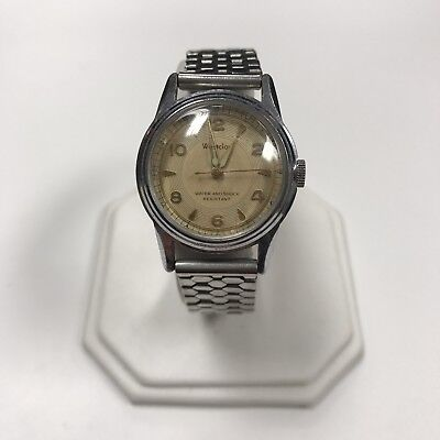 d042 Vintage Westclox Mechanical Silver Tone Stainless Steel Men's Wrist Watch