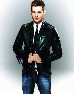 Michael Buble Signed - Autographed Jazz Singer - Crooner 8x10 inch Photo