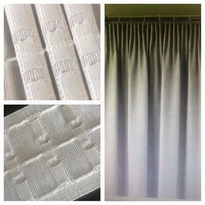 Top Quality 3 inch /75mm Pencil Pleat Curtain Header Heading Tape~Woven Pockets