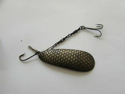 "rare vintage hardy special norwegian scaled spoon 2.5"" vintage fishing lure bait"