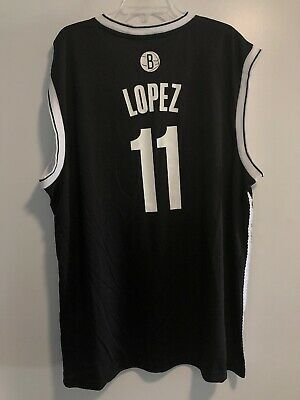 bf9b6f80ea9 BROOK LOPEZ AUTHENTIC Brooklyn New Jersey Nets Jersey Adidas Rev 30 ...
