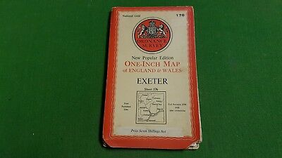 Sheet 176 Exeter Cloth OS Map One Inch Ordnance Survey 1940s
