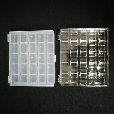 Plastic bobbin box with 25 slots All size Organize Storage Clip For 11.5 Bobbins
