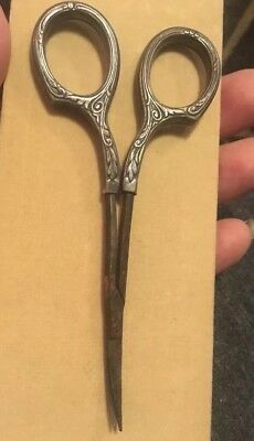 Vintage Sterling Silver Small Scissors Marked Germany