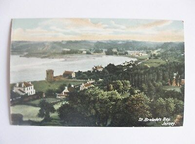 Cp United Kingdom Jersey St. Brelade's Bay Carte Postale Postcard Royaume-Uni