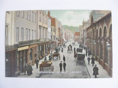 Cp United Kingdom Jersey Beresford Street Carte Postale Postcard Royaume-Uni
