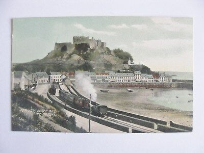 Cp United Kingdom Jersey Gorey And Mt Orgueil Carte Postale Postcard Royaume-Uni
