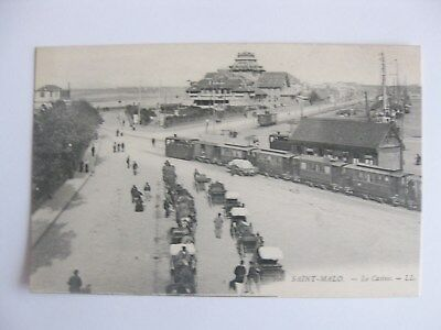 Cp France Saint Malo Le Casino Train Carte Postale Postcard