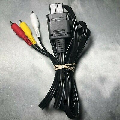 Official Video Game Cube AV Cable OEM RCA Cord SNES Super Nintendo 64 N64 GREAT