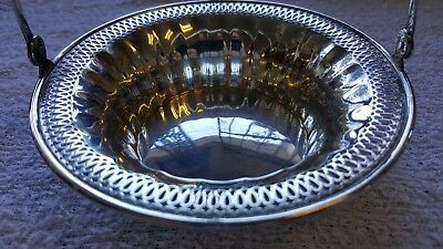 Manchester MFG Co. Sterling Pierced Candy Dish Basket 0369 Mono