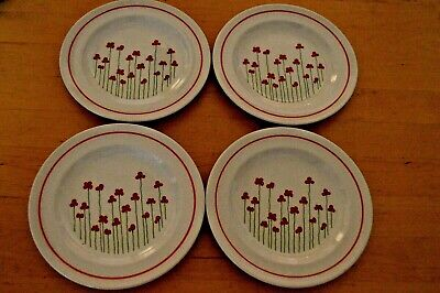 Boots Poppies Side Plate x 4