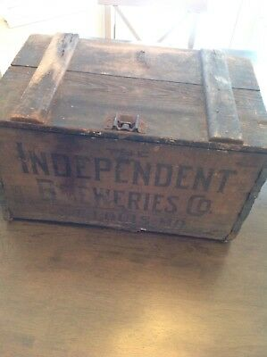 Vintage Beer Crate 1919 Vintage Wooden Case Independent Breweries St. Louis Mo.