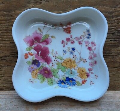 Dainty Vintage Bone China Dish By Poole Pottery/Ophelia/Retro/Floral/Pin Dish