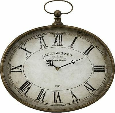 """Exquisite Antique-Style French Pocket Watch Wall Clock Distressed Face 16"""" NEW"""