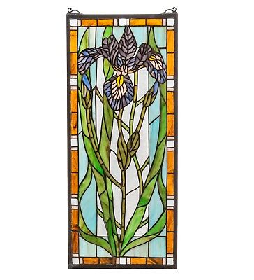 Iris Stained Glass Hanging Panel