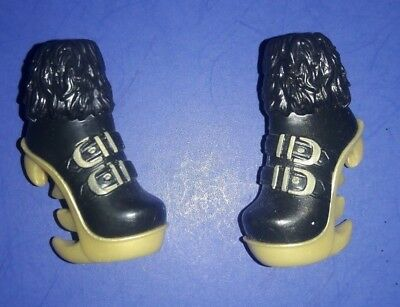 Monster High Doll Clothes Clawdeen Wolf Sweet 1600 Black & Gold Boots Shoes
