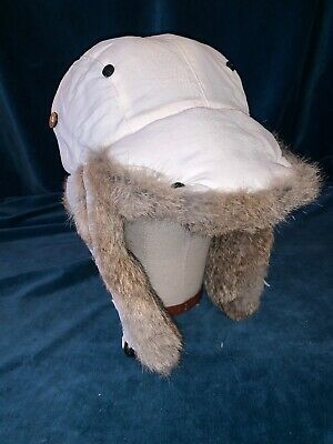 1a6ae44eb06209 Mens Mad Bomber Hat Trapper Hat Rabbit Fur Bomber Hat Nylon - SIZE Large