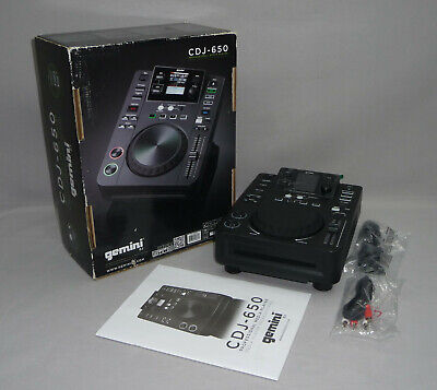 Gemini CDJ-650 Professioneller DJ-CD-Player 24 Bit MP3 USB Media Controller
