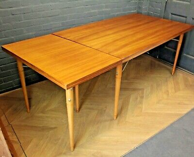 Mid Century Mahogany Dining Table Kitchen Table ~ With Tripod Table Extension