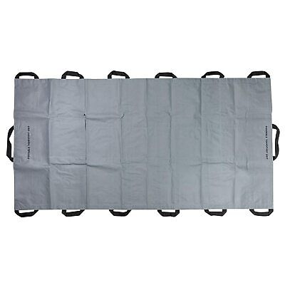 LINE2design Portable Transport Unit Emergency Patient Mover Roll Stretcher-Gray