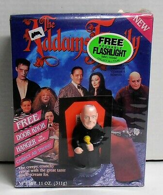 1991 the Addams Family Cereal with Cousin It Flashlight by Ralston Purina NIB