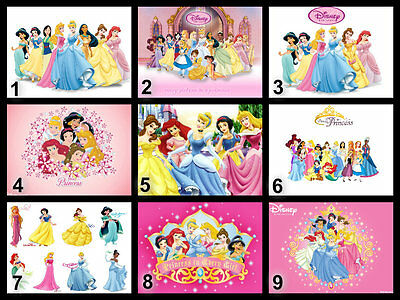 Personalised Edible Disney Princess Cake Topper Icing or Wafer Paper