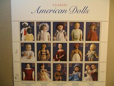 Souvenir Sheet Of American Dolls 32 Cent Us Stamps 1996 Scott #3151 Mnh, New